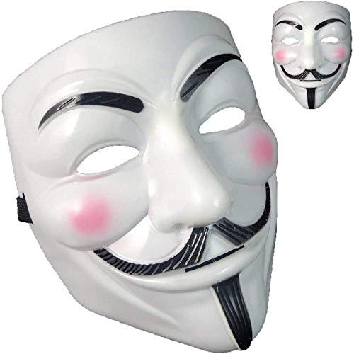 QUNPON Halloween-Maske,V for Vendetta Guy Fawkes...