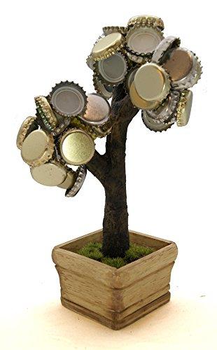Deckel Bonsai - Magnetischer Kronkorkenbaum mit 3...