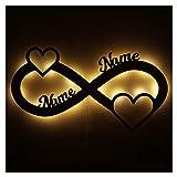 Liebe Love Geschenke personalisiert mit Namen zur Verlobung Jahrestag Hochzeit für Sie & Ihn Freundin Mädchen Junge Frauen Männer Partner