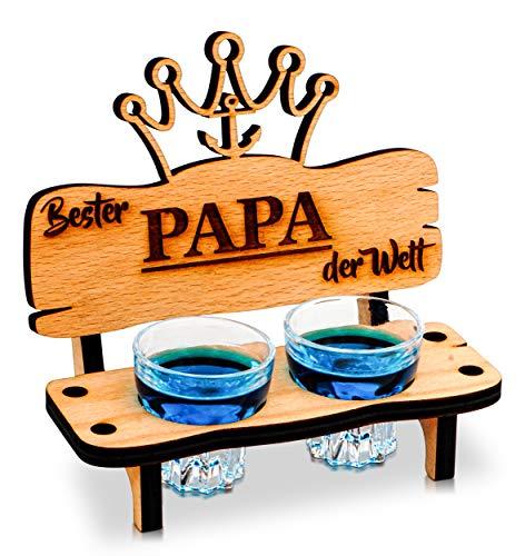 Schnapsbank mit Schnapsglas und Kerze, Deko Anker...