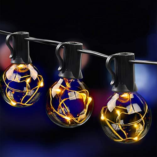 MYCARBON LED Lichterkette außen 10.7M 33er Birnen...