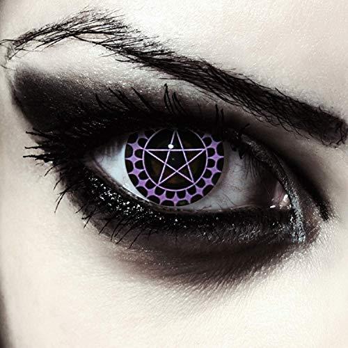 Designlenses farbige Pentagramm Kontaktlinsen für...