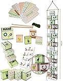 Bastelset - Weihnachtskalender - 24 Boxen / Schachteln zum Befüllen + Zahlenaufsticker + 1 Name - als Adventskette - selber Basteln - Adventskalender Weihnach..