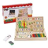 BBLIKE Montessori Mathe Spielzeug, Spielzeug Doodle aus Holz Zeichnung,Zeichnung Holzbrett Spielzeug Lernspielzeug f¨¹r Kinder 3 4 5 Jahre Alt (D)