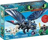 Playmobil DreamWorks Dragons 70037 Ohnezahn und Hicks mit Babydrachen, Ab 4 Jahren