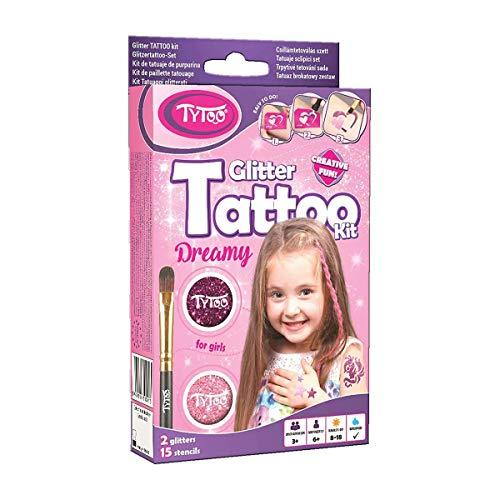 Tytoo Glitzertattoo Set für Mädchen mit 15...