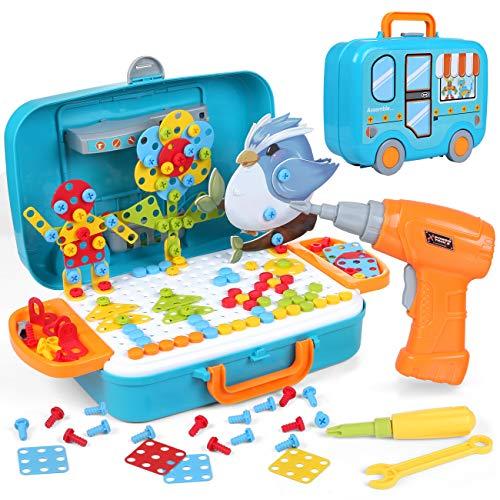 LIHAO 400 PCS Mosaik Spielzeug Steckspiel 3D&2D...