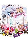 Amerikanischer Adventskalender 2020 I US Weihnachtskalender American Candy mit 24 Süßigkeiten aus den USA Sweets I Geschenkset für Erwachsene Kinder I Weihnachtszeit Adventszeit I US Süßigkeiten
