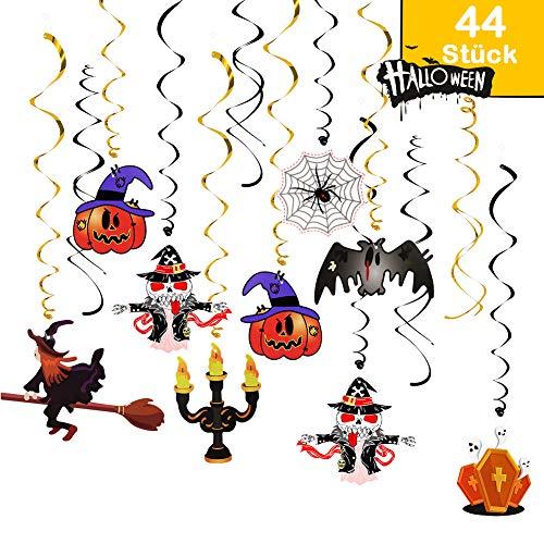 Datyeco 44 Stück Deko Halloween, Spiralen Deko...