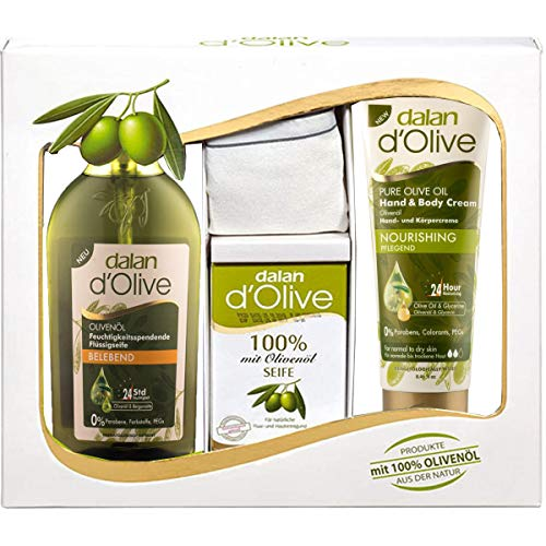 Dalan d'Olive 4-teiliges Pflegegeschenkset mit...