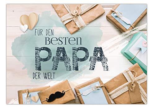 Grußkarte'Für den besten Papa der Welt.'...