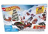 Hot Wheels FYN46 - Adventskalender 2019 mit 8 Autos und 16 Zubehörteilen, Spielzeug und Adventskalender Jungen ab 3 Jahren