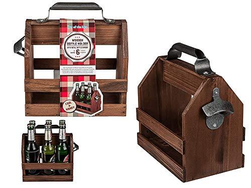 MC Trend Cooler Flaschenträger aus dunklem Holz...