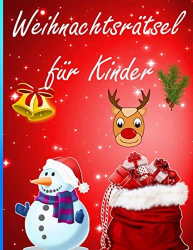 Weihnachtsrätsel für Kinder: Rätsel, Ausmalen,...