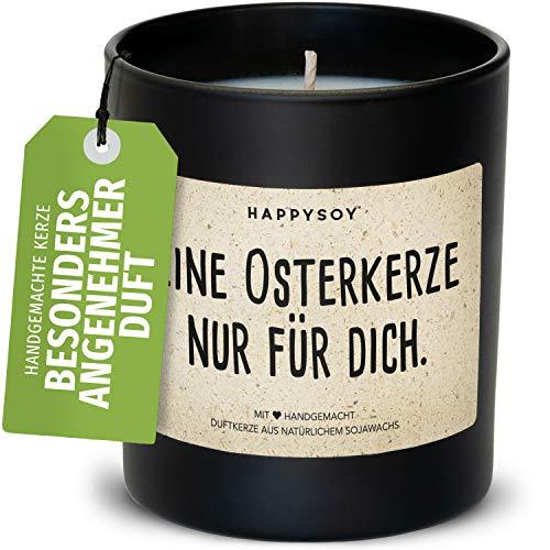 Happysoy Osterkerze Duftkerze im Glas mit Spruch...