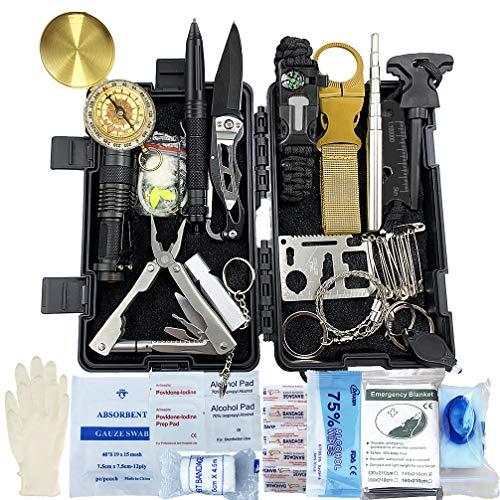 Survival Kit 24 in 1, Außen Erste Hilfe Set...