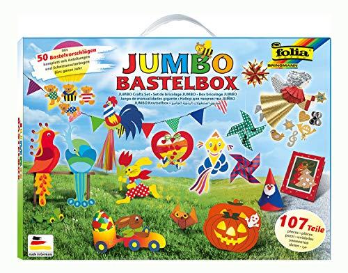 folia 50915/1 - Jumbo Bastelkoffer mit 107 Teilen,...