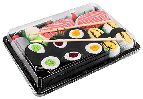 Rainbow Socks - Damen Herren - Sushi Socken Tamago...