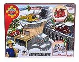 Simba 109251037 - Feuerwehrmann Sam Adventskalen/ Mit großer Spielszenerie / Mit Weihnachtsgeschichte / 24 überraschungen/ Mit 3 Figuren
