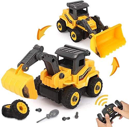 BeebeeRun 2 in 1 Montage Spielzeug RC Auto LKW...