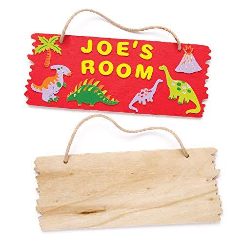 Baker Ross Holzplaketten zum Aufhängen - für...
