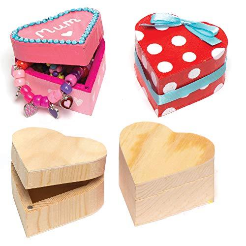 Baker Ross Holzdosen 'Herz' für Kinder zum...