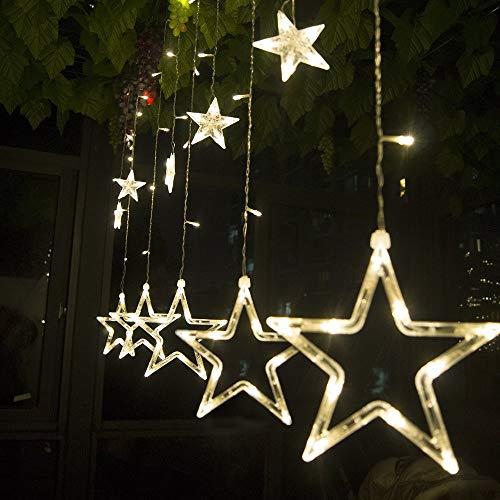 SALCAR Lichterkette mit LED Kugel 12 Sterne 138...