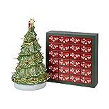 Villeroy & Boch Christmas Toy's Memory Adventskalender-Set 26tlg, Weihnachtskalender mit 24 Porzellanfiguren aus Hartporzellan, inkl. Baum