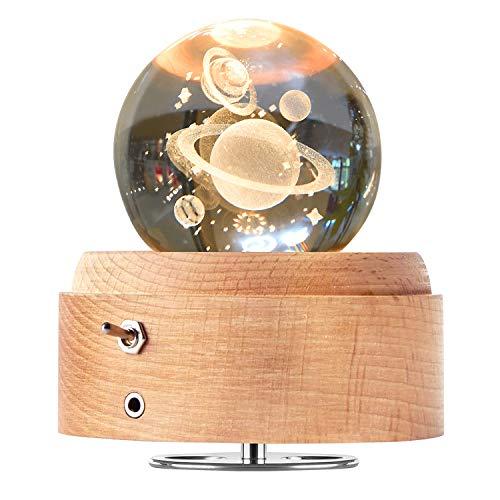 DUTISON Kristallkugel Spieluhr, 360° Rotierende...