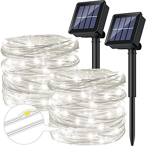 [2 Stücke] Solar Lichterkette Aussen, Ruyilam 10M...