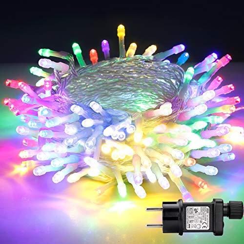 Lichterkette Außen, BIGHOUSE 100 LEDs 10M LED...