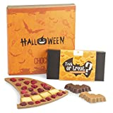 Schokoladiger Hexenhut und Fledermäuse - Halloween Geschenke | Süßigkeiten | Schokolade | Halloweenparty | Halloweensüßigkeiten | Geschenk | Kinder | Erwachsene | Mann | Frau | Mädchen | Jungen