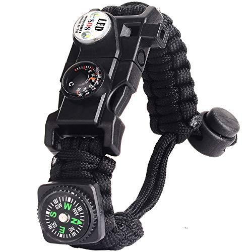 Paracord Survival Armband Kit für Herren Damen,...
