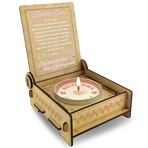 Candle IN THE BOX für die Beste Oma der Welt, von...