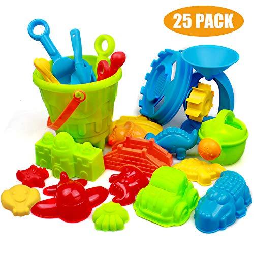 Swonuk 25 Stück Bunt Strand Sandspielzeug Set mit...