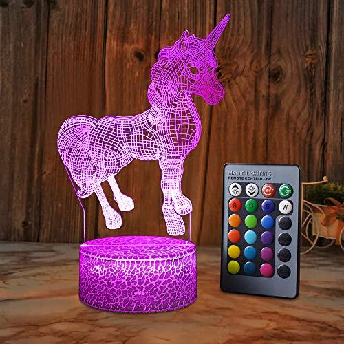 XEUYUTR Unicorn LED Nachtlicht Lampe Party...