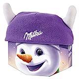 Milka Wintermütze 1 x 150g, Milka Weihnachtsmütze mit Milka Schokolade, Zwei zufällige Designs