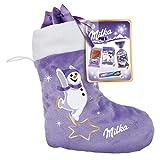 Milka Stiefel 1 x 196g, Milka Schokolade im Milka Weihnachtsstiefel, Zwei zufällige Designs