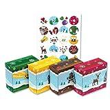 ROTH Adventskalender zum Befüllen 24 Adventsboxen für Kinder inkl. Kissenverpackung Stern, Weihnachtskalender zum Selbstbefüllen