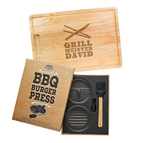 Kitchen Rockstars 2er Grillset – Burgerpresse...