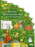 Mein erstes Adventskalender-Buch zum Suchen und Schmücken - Mit 24 Türchen und Spiel-Stickern: Mit großen Wimmelbildern und 24 Klappen, Suchfragen und Weihnachtsbaumschmuck-Stickern