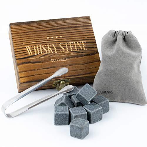 GOURMEO Whisky Steine aus natürlichen Speckstein...