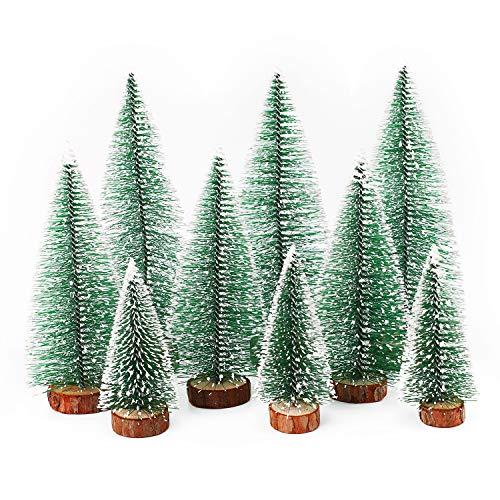 Herefun Mini Weihnachtsbaum Künstlicher, 9 Stück...