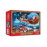 FeiliandaJJ Weihnachten Puzzle 1000 Teile Erwachsene Kinder Christmas Puzzle Spielzeug für Mädchen Jungen Teenager Jigsaw Weihnachtsmann Weihnachten Geschenke für Männer Frauen (A)