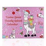 Accentra Adventskalender Lama Queen Für Mädchen Mit 24 Bade-, Körperpflege Und Accessoires Produkten Für Eine Abwechslungsreiche Und Verwöhnende Adventszeit