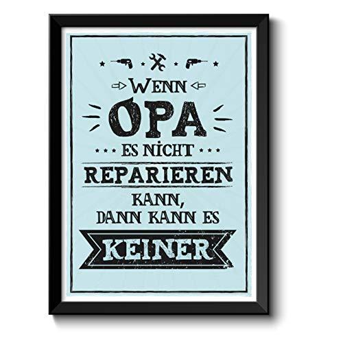 Opa kann es reparieren Bild im schwarzem...