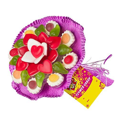 Fruchtgummi Blumenstrauß aus verschiedenen...
