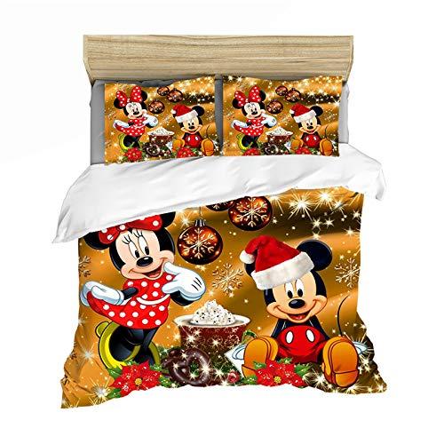 YZHY Disney Mickey Minnie Bettbezug, für...