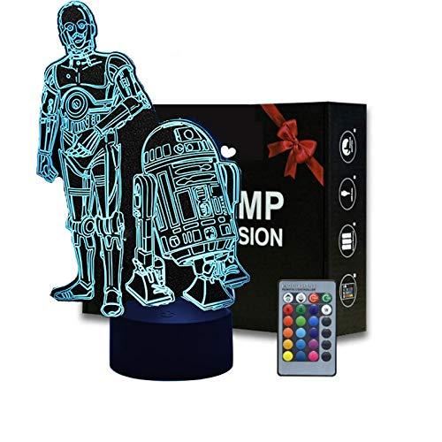 3D LED Star Wars Nachtlicht, drei Muster und 16...