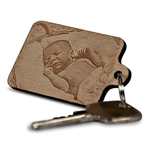Wogenfels - Schlüsselanhänger aus Holz mit...